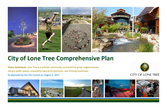 Lone Tree Comp Plan Cover Page Image